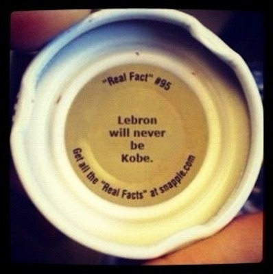 Damn, Snapple. Made from the snarkiest stuff on Earth. - Neal (via Complex)