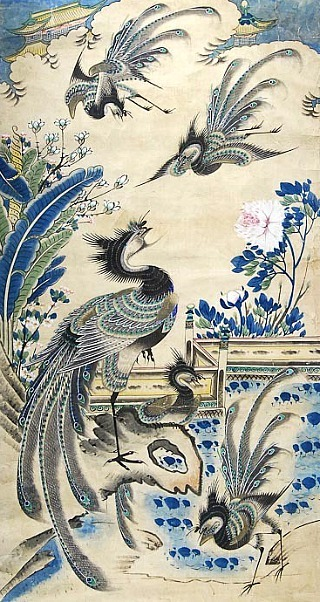 Unknown (Chinese) Phoenixes Gathering 19th century