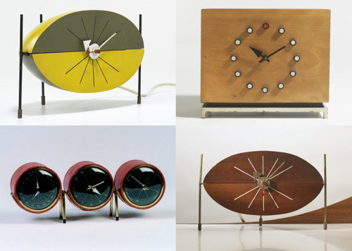 George Nelson table clocks.