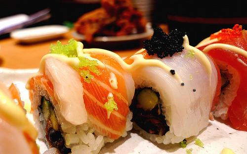 dailyluxury:  Fresh Sushi.