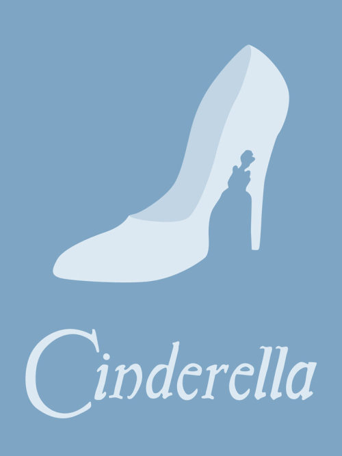 Minimalist Disney Princess Movie Posters