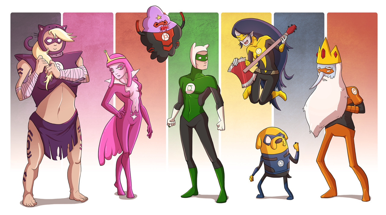paintinggael:  causeimdanjones:  Adventure Time Lantern Corps  THIS.