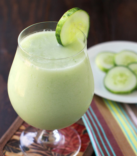 bakeddd:  green melon smoothie click here for recipe