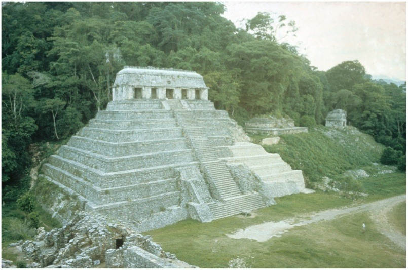 Temple of Inscriptions, Palenque, Chiapas, Mexico Maya, Late 7th cen CE