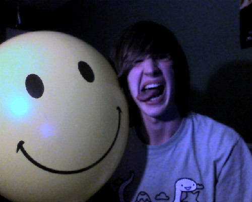 Me and a balloon that i shall name Bob….Smiley Bob