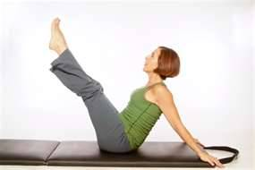 Daily Pilates Pose 26: Hip Circles 1.Balance on your tailbone with your legs held in the V position of the Teasers, stretch your arms behind you, and place the palms of your hands on the mat behind you. 2. Inhale and move your legs, down and around to the right. 3. Exhale and complete the circle, bringing the legs to the left and back up to the starting V. 4. Switch directions with each circle, completing 3 repetitions on each side. The goal is to keep your torso still during this exercise.
