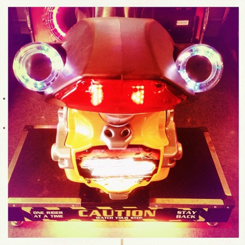 Caution Anthropomorphism Ahead! #hipstamatic #alfredinfrared #melodie #hipstaroll_week33 #igerseastbay #bowling #albany #videogame #motorcycle (Taken with Instagram at Albany Bowl)