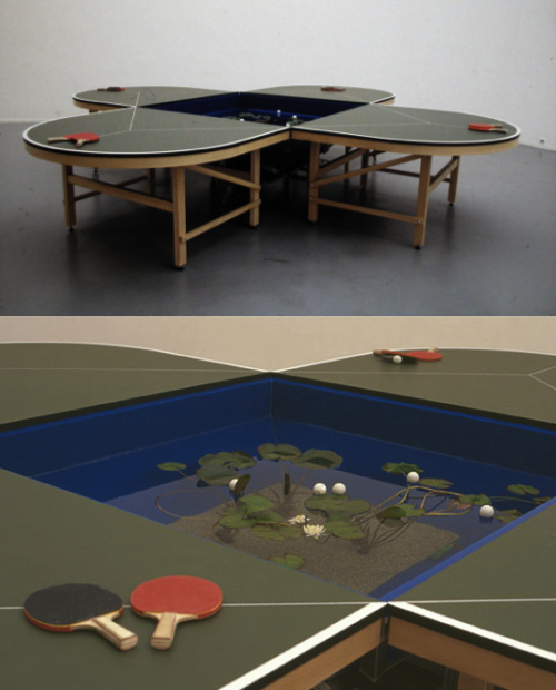 ping-pong table by Gabriel Orozco