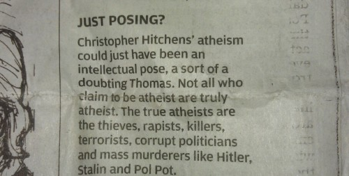 christinsanity:  True atheists…