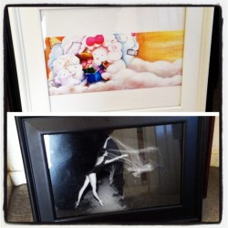 Freshly framed: light and dark, cute and breathtaking. #art (Taken with instagram)