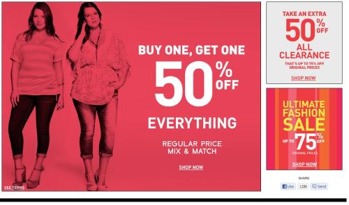 Torrid is having a huge sale, I guess. :)
