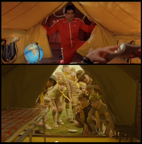 #moonrisekingdom tent shot referencing #royaltenenbaums? We already noticed a line in the Moonrise Kingdom trailer from Bottle Rocket. I wonder if Anderson has a reference to each of his movies in Moonrise…?