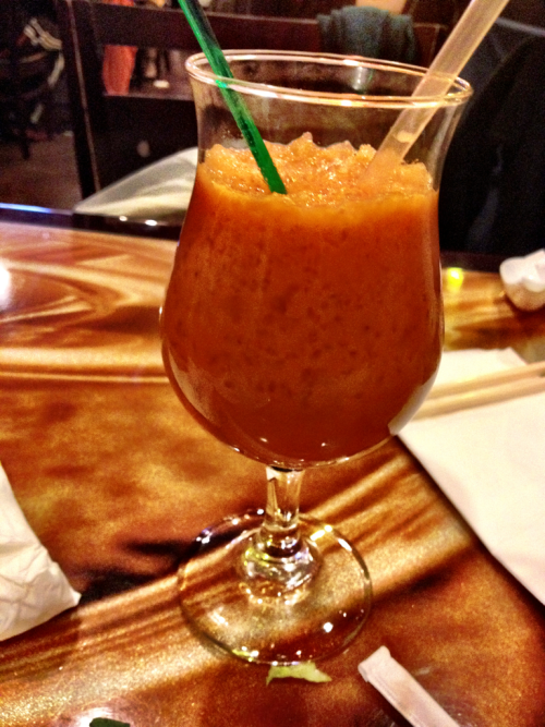 Thai tea at Pho 14 in Columbia Heights in Washington, DC.