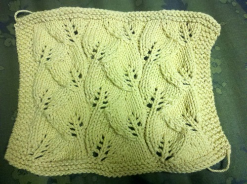 Finished the dishcloth. Can't decide if I want to block it or not. (Day 197/365) Is that to excessive for dishcloths?