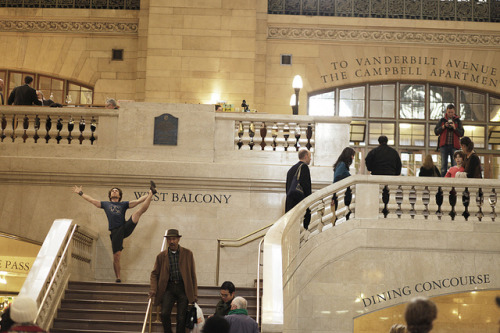 yogadudes:  Justin Caruso at Grand Central Station, New York by Wari Om Photography on Flickr.