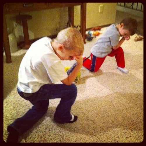Dinosaur victory! #Tebowing (Taken with Instagram)