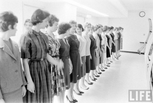TWA stewardess school, 1961