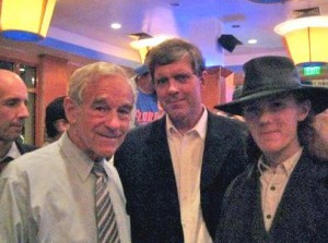 "Ron Paul and buddy Don Black, a former American Nazi Party member. Not one Republican candidate has mentioned this photograph, circulated via social media by an #occupy protest group last week:It  shows Paul posing with Don Black, a former American Nazi Party member  turned KKK Grand Wizard and owner of the white supremacist  Stormfront.org. And it's not just a matter of unfortunate photo ops. Bill White, founder of the American National Socialist Movement, claims that Paul's disavowal of white supremacy is insincere. White opened a  recent blog post noting that he felt ""compelled to tell the truth about  Ron Paul's extensive involvement in white nationalism."" He writes:  … Congressman Paul and his aides regularly meet  with members of the [white supremacist] Stormfront set, American  Renaissance, the Institute for Historic Review, and others … in  Arlington, Virginia, usually on Wednesdays. This is part of a dinner  that was originally organized by [white nationalists] Pat Buchanan, Sam  Francis and Joe Sobran, and has since been mostly taken over by the  Council of Conservative Citizens. I have attended these dinners, seen Paul and his aides there, and been invited to his offices in Washington to discuss policy. For his spokesman to call white racialism a ""small ideology"" and  claim white activists are ""wasting their money"" trying to influence Paul  is ridiculous. Paul is a white nationalist of the Stormfront type who  has always kept his racial views and his views about world Judaism quiet  because of his political position."