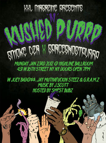 G.R.A.M.Z. is opening up for Smoke Dza & Spaceghostpurp in NY. Our nigga J.Scott will be spinning up in this bitch JANUARY 23rd at Highline. @GRAMZD