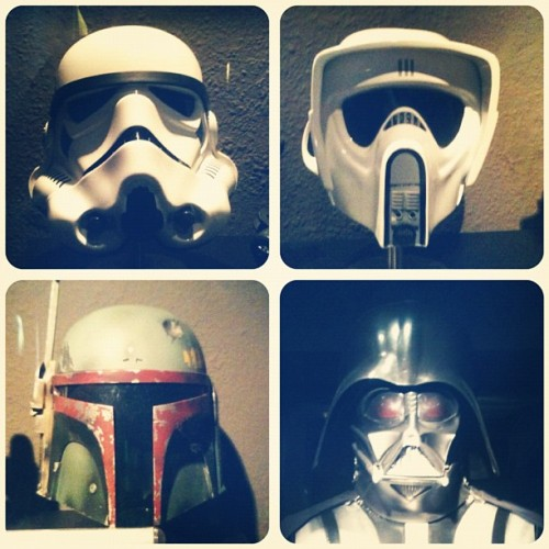 Cascos de Star Wars (Taken with instagram)