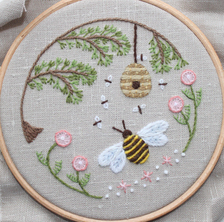 cajunmama:  Bee's World Crewel Embroidery (by flossbox)