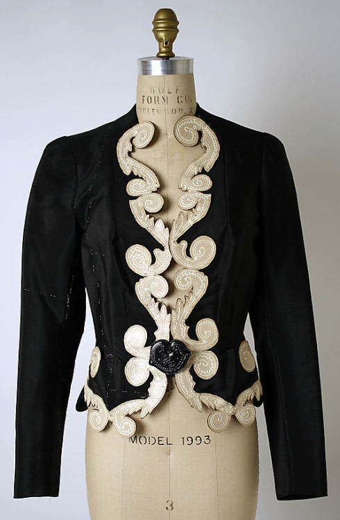 omgthatdress:  Jacket Elsa Schiaparelli, 1937 The Metropolitan Museum of Art