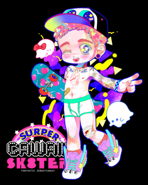 "digital image/SAI,Photoshop ""Surper Cawaii ! Sk8ter"""