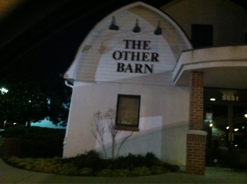 "There is a place in Columbia called The Barn. This is what is about 10 feet to its left. I went to a local band's show there when I was in high school and Michael Chabon apparently tried to start a comic book club there when he was in middle (elementary?) school. Tonight I drove past it with my sister while blasting ""Your Favorite Weapon"" to take a picture to prove it existed."