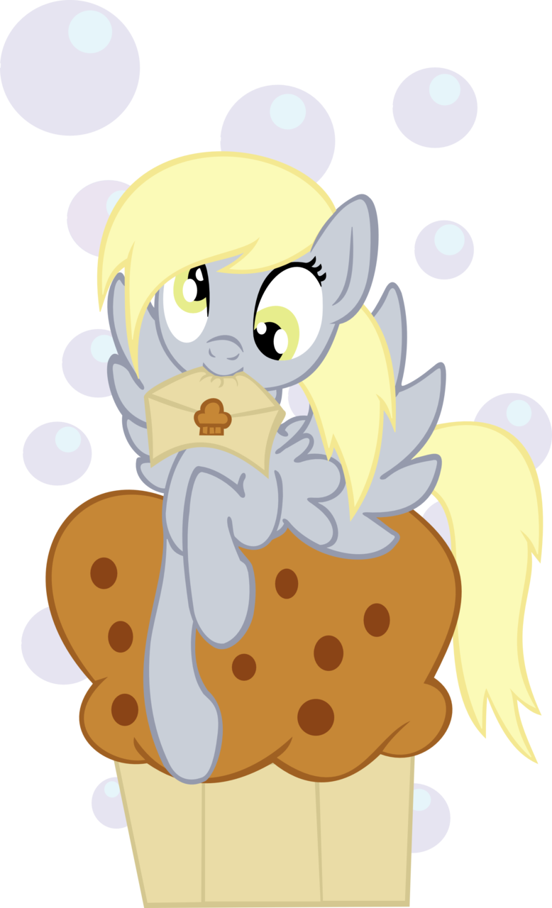 cutiemarkcrusaders:  Derpy got you a mail and a muffin by ~Ookami-95