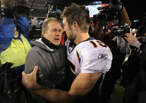 """Tom Brady is your God now, Timothy."" (Photo by Jim Rogash/Getty Images)"