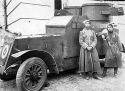 zolotoivek:  Cossacks by an armored car, Ukraine, 1919.