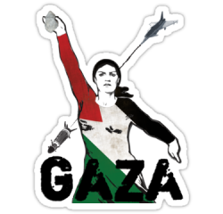 "soldwork:  (via ""GAZA…"" Stickers by buyart 