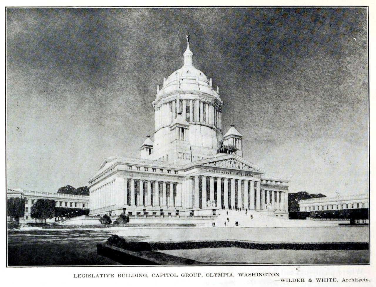 The projected Legislative Building, Olympia, Washington