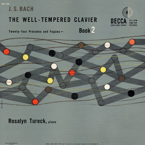 Album art for The Well-Tempered Clavier: Twenty-four Preludes and Fugues, played by Rosalyn Tureck