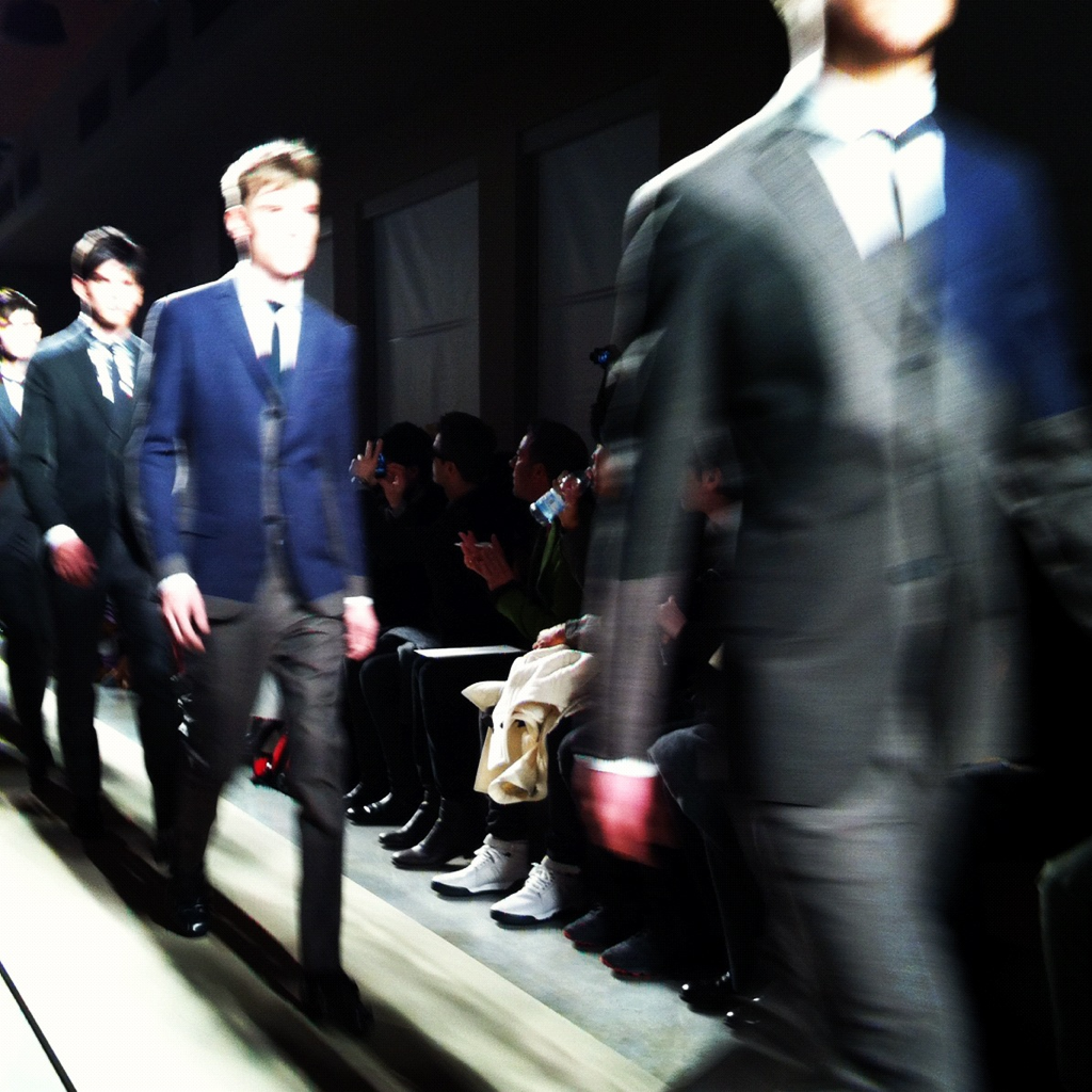 Rock 'n' roll, denim and leather at Bottega Veneta