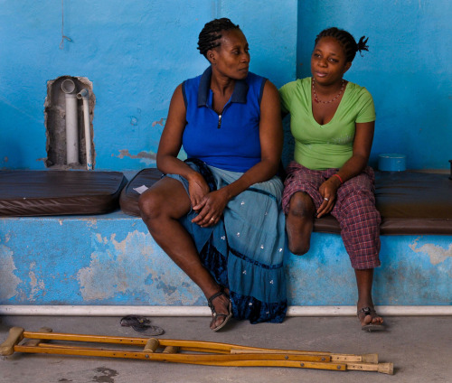 Haiti slow to recover from 2010 quake - Amputee patients who lost legs during the 2010 earthquake wait at a center run by Handicap International to undergo rehabilitative therapy in Port-au-Prince Jan. 4, 2012. (Swoan Parker/Reuters)