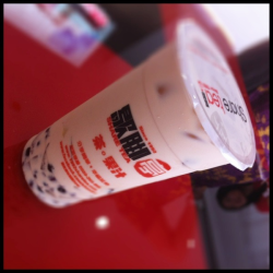 QQ Happy Family Milk Tea at ShareTea (P95/105)  + with lots of toppings: pearls, grass jelly, pudding, red bean and lychee nata (my fave) - the taste is not so strong