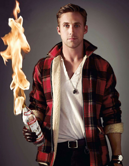 Ryan Gosling plays with fire.