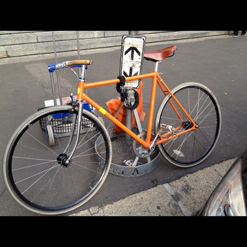 gqfashion:  Cool bike! Only in Milan. Ts  (Taken with instagram)