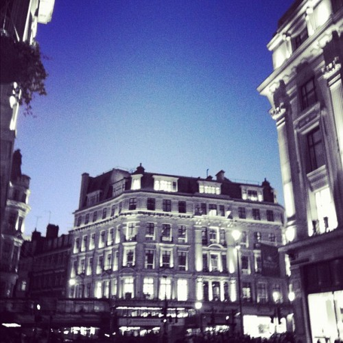 Incredible sky last night on Regent Street.