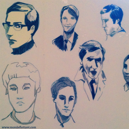 Face study. French boys from 1968.