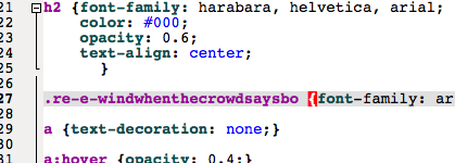A frightfully nerdy CSS joke which I wouldn't expect anyone to get.
