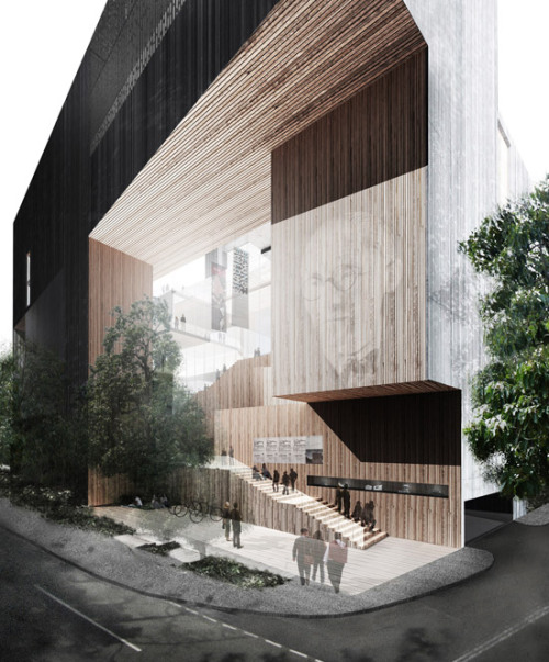 so want to go to China.  theblackworkshop:  School of Architecture for the Chinese University of Hong Kong / Ida and Billy