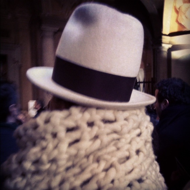 It's either a fashion editor or a Womble entering the Westwood show…
