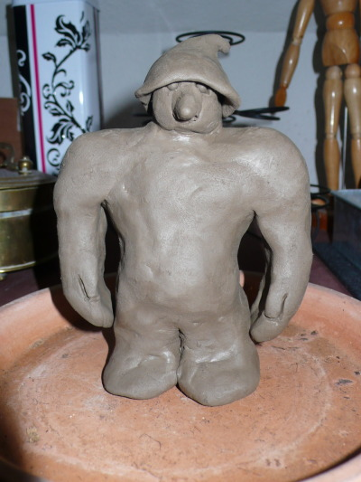 Meet Hrunger, my newly crafted clay troll.