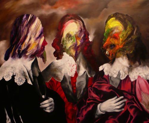 Artist Alessandro Pagani - Untitled (Van Dyck V) 2012 oil on canvas 115x95