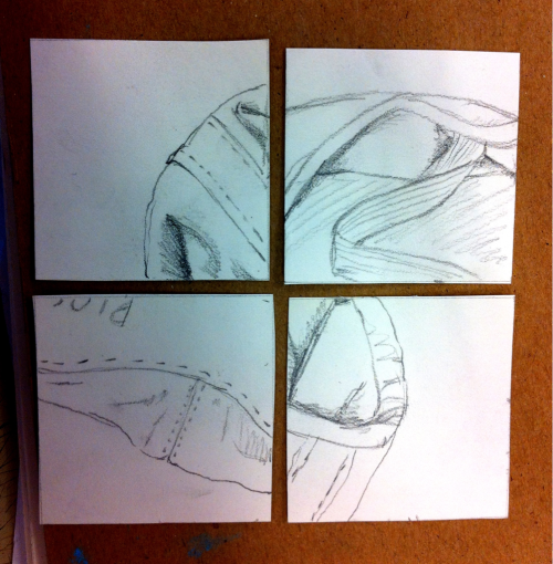 Thumbnail sketches for a project due next week. Any takers on what the object is?