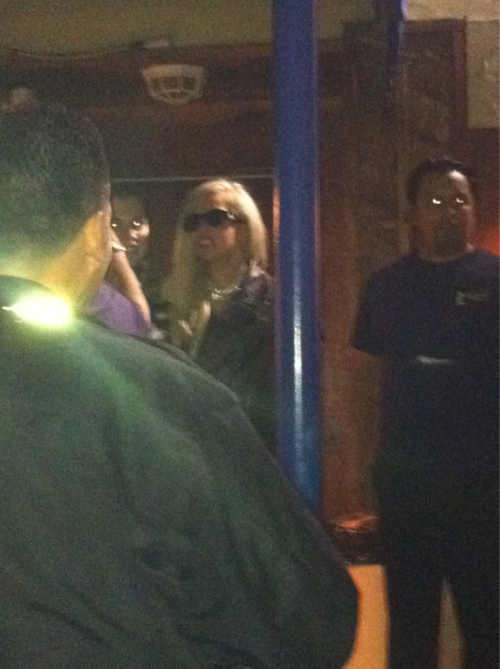 Lady Gaga at a bar in San Diego, California - 14.01.2012