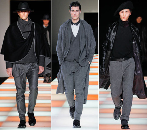 First Look: Emporio Armani Fall 2012 See the full Emporio Armani Fall 2012 men's collection from Milan right now at GQ.com.