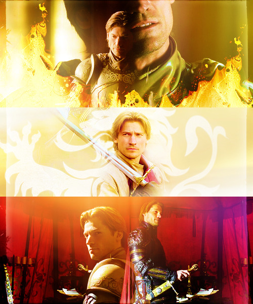 acidflashbacks:  FAVORITE ASOIAF CHARACTERS » Jaime Lannister  So many vows… They make you swear & swear. Defend the king. Obey the king. Keep his secrets. Do his bidding. Your life for his. But obey your father. Love your sister. Protect the innocent. Defend the weak. Respect the gods. Obey the laws. It's too much. No matter what you do, you're forsaking one vow or another.